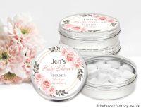 Baby Shower Favour Tins Blush Roses Frame x1