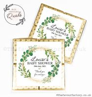 Baby Shower Chocolate Quads Favours Botanical Gold Dust x1