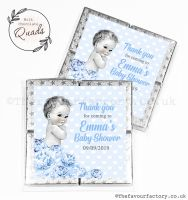 Baby Shower Chocolate Quads Favours Vintage Baby Boy x1