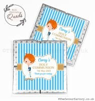 Communion Chocolate Quads Favours Ginger Hair Boy x1