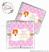 Communion Chocolate Quads Favours Ginger Hair Girl x1