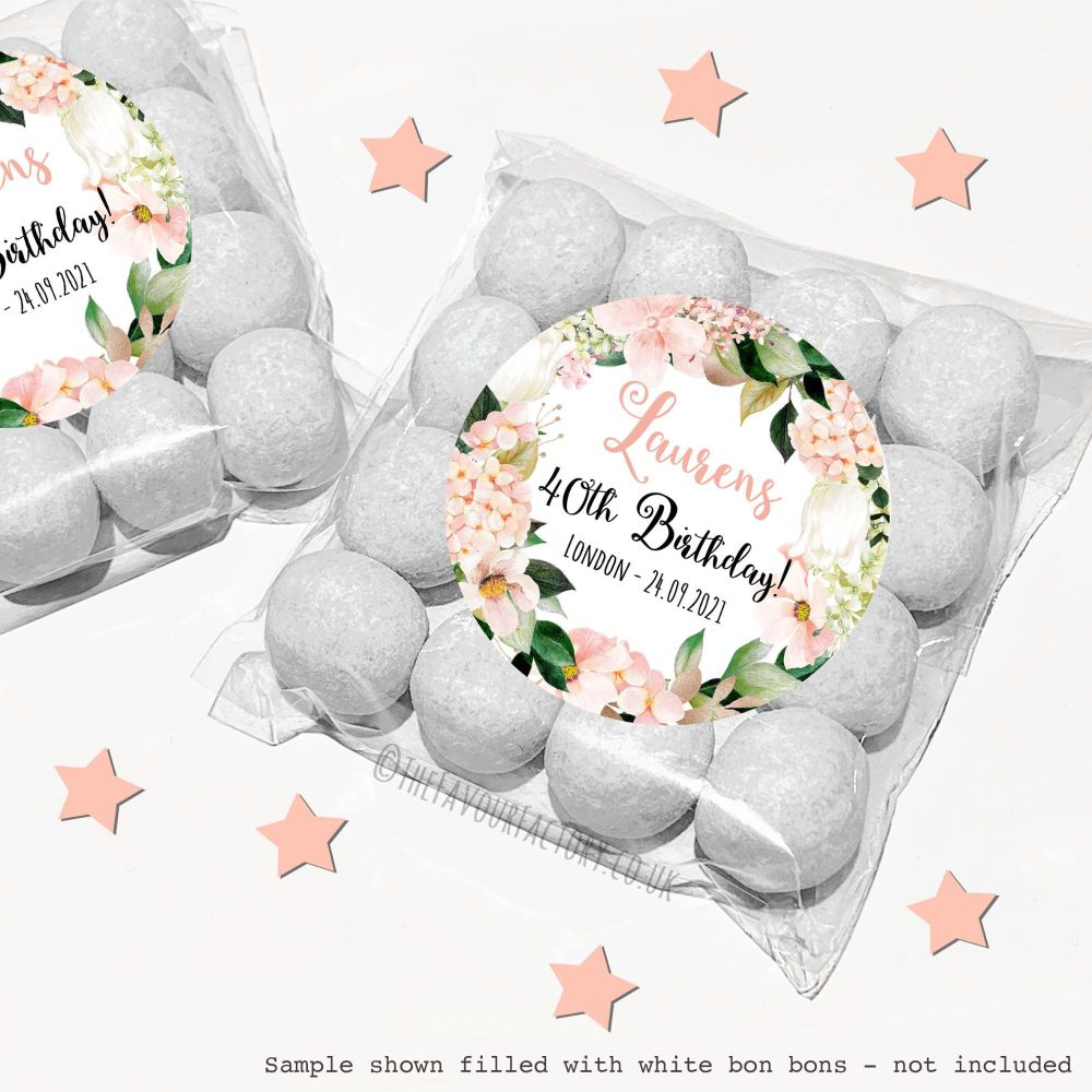 Adult Birthday Sweet Bags Kits Blush Hydrangeas  x12