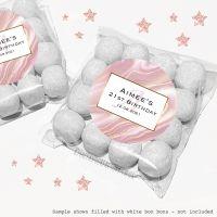 Adult Birthday Sweet Bags Kits Rose Gold Liquid Marble x12