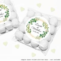 Wedding Sweet Bags Favour Kits Botanical Gold Dust x12