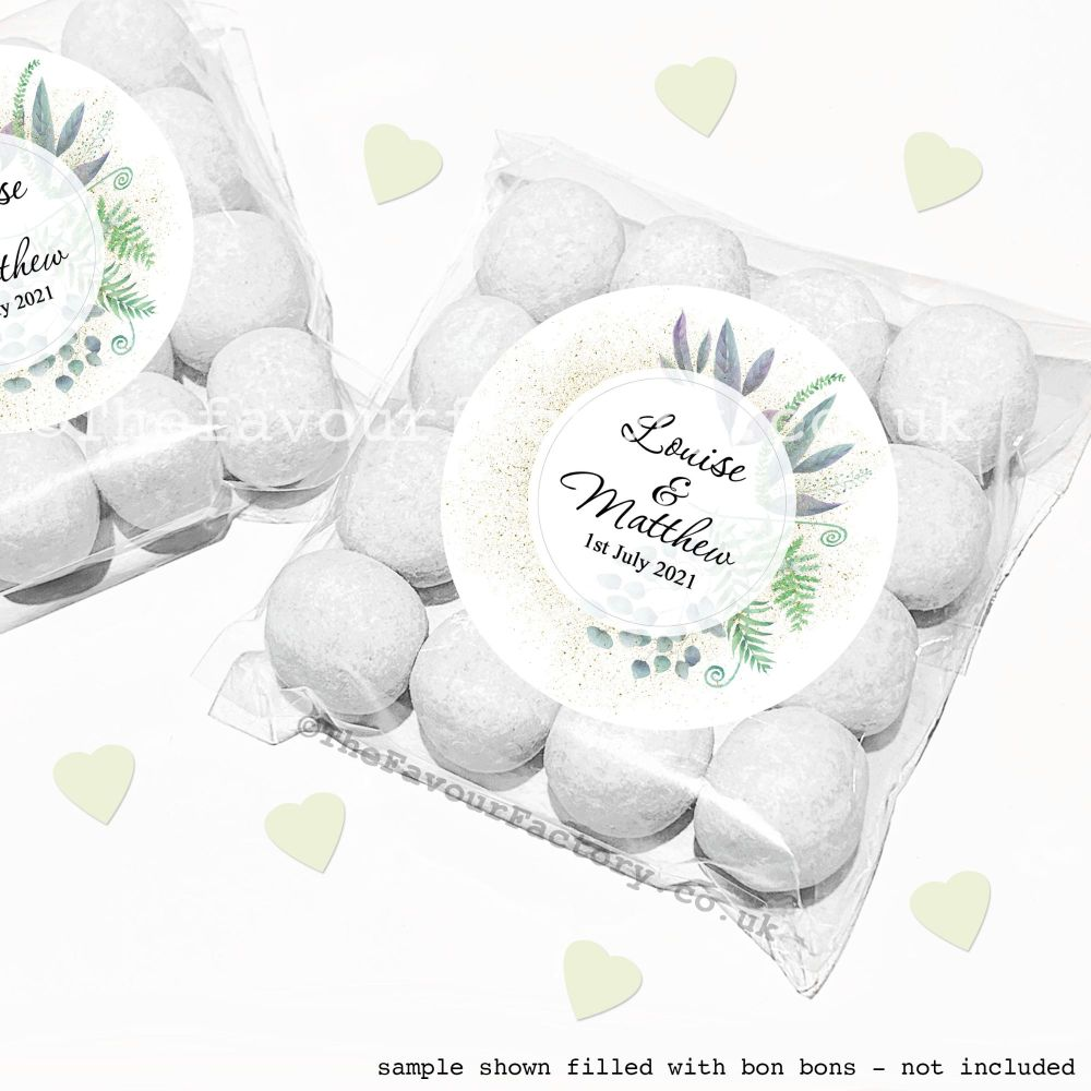 Wedding Sweet Bags Favour Kits Botanical Romance x12