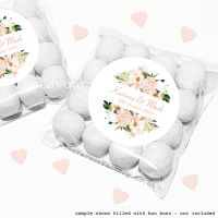 Wedding Sweet Bags Favour Kits Blush Floral Frame x12