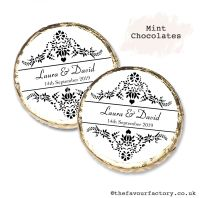 Wedding Mint Chocolates Personalised Elegance x10