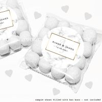 Wedding Sweet Bags Favour Kits Marble Monogram x12