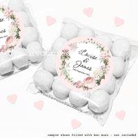 Wedding Sweet Bags Favour Kits Vintage Floral Wreath x12