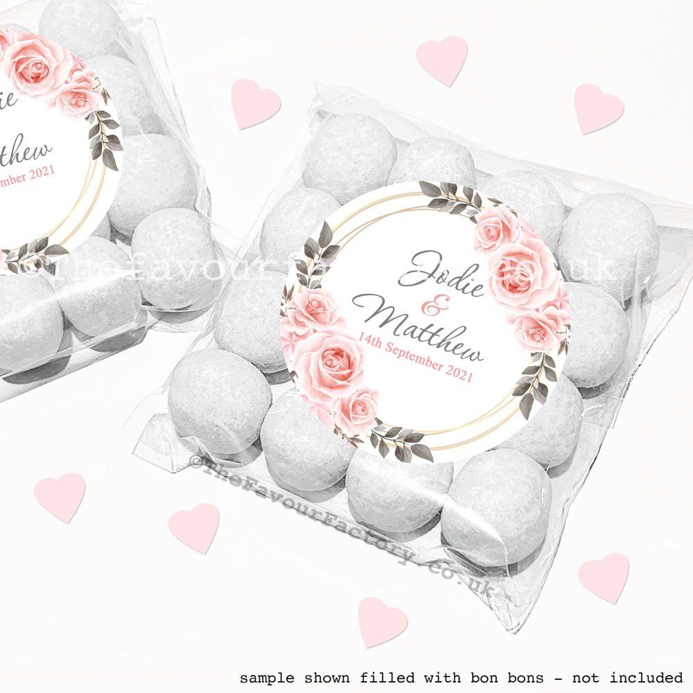Wedding Sweet Bags Favour Kits Blush Roses x12