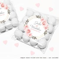 Wedding Sweet Bags Favour Kits Blush Roses x12