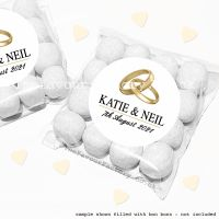 Wedding Sweet Bags Favour Kits Gold Rings x12