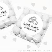 Wedding Sweet Bags Favour Kits Silver Rings x12