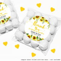 Wedding Sweet Bags Favour Kits Sunflowers Drop x12