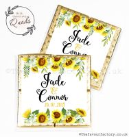 Wedding Favours Chocolate Quads Sunflowers Drop x1