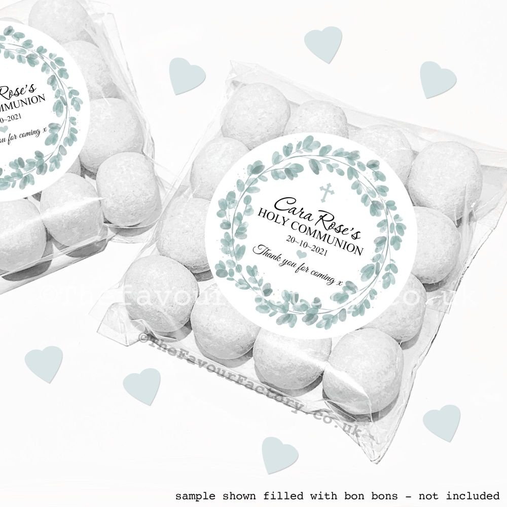 Holy Communion Sweet Bags Kits Eucalyptus x12