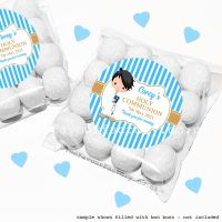 Holy Communion Sweet Bags Kits Black Hair Boy x12