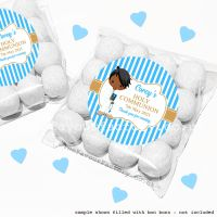 Holy Communion Sweet Bags Kits Black Boy x12
