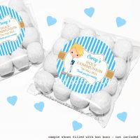Holy Communion Sweet Bags Kits Blonde Hair Boy x12
