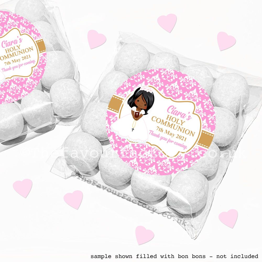 Holy Communion Sweet Bags Kits Black Girl x12
