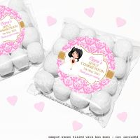 Holy Communion Sweet Bags Kits Black Hair Girl x12