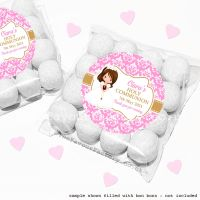 Holy Communion Sweet Bags Kits Brown Hair Girl x12