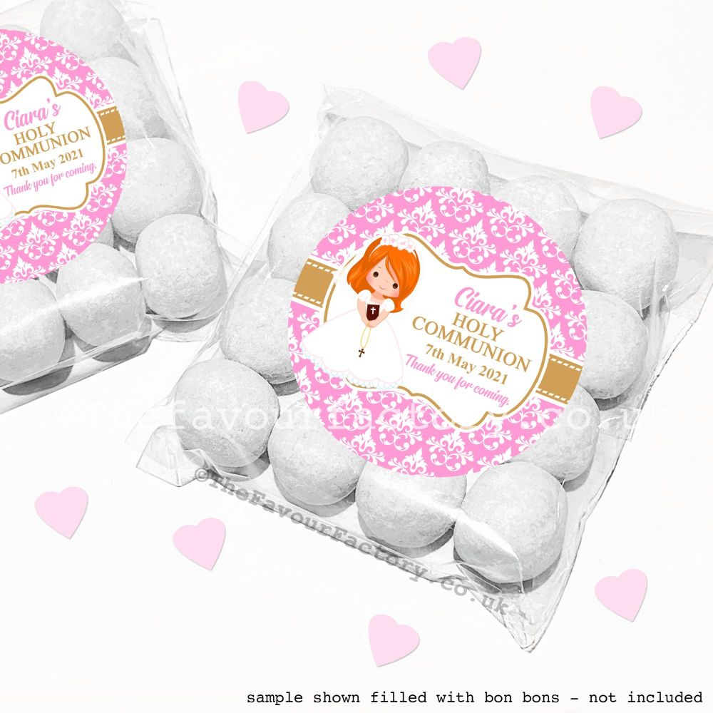 Holy Communion Sweet Bags Kits Ginger Hair Girl x12