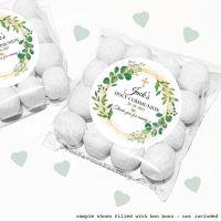 Holy Communion Sweet Bags Kits Botanical Gold Dust x12
