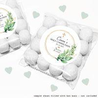 Holy Communion Sweet Bags Kits Botanical Gold Frame Cross x12