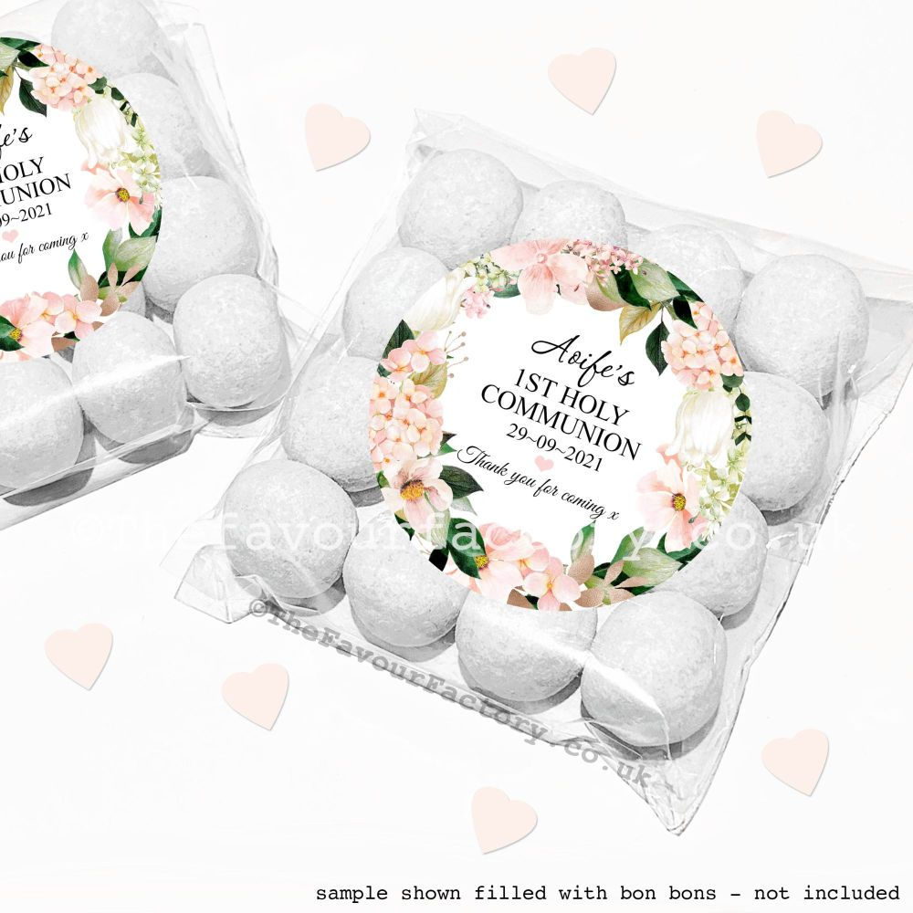 Holy Communion Sweet Bags Kits Blush Hydrangeas x12