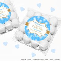 Holy Communion Sweet Bags Kits Blue Beads And Candles x12