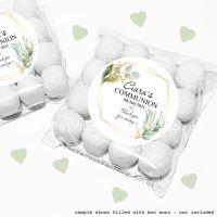 Holy Communion Sweet Bags Kits Geometric Botanicals x12