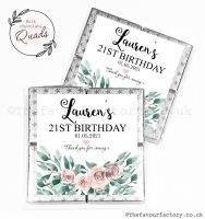 Personalised Birthday Chocolate Favours Floral Bouquet x1