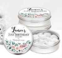 Adult Birthday Favour Tins Boho Floral Bouquet x1
