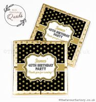 Personalised Birthday Chocolate Favours Gold Stars x1