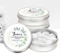 Adult Birthday Favour Tins Botanical Romance x1