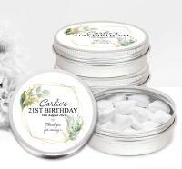 Adult Birthday Favour Tins Geometric Botanicals x1
