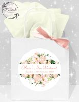 Personalised Hen Party Bags Blush Floral Frame x1
