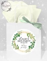 Personalised Hen Party Bags Botanical Gold Dust x1