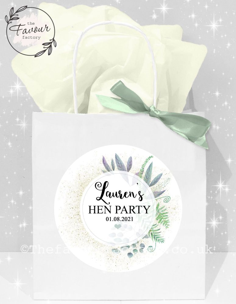 Personalised Hen Party Bags Botanical Romance x1