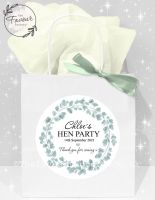 Personalised Hen Party Bags Eucalyptus Wreath x1