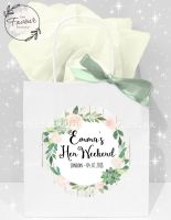 Personalised Hen Party Bags Boho Succulents x1