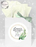 Personalised Hen Party Bags Botanical Gold Frame x1
