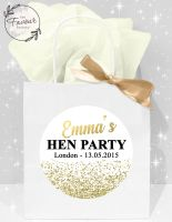 Personalised Hen Party Bags Gold Glitter Confetti x1