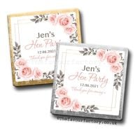 Hen Party Milk Chocolates Blush Roses x10