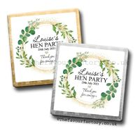 Hen Party Milk Chocolates Botanical Gold Dust x10