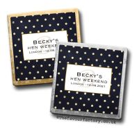 Hen Party Mini Milk Chocolates Gold Polka Dots x10