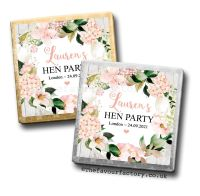 Hen Party Milk Chocolates Blush Hydrangeas x10