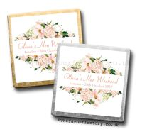 Hen Party Milk Chocolates Blush Floral Frame x10