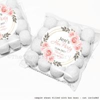 Hen Party Sweet Bags Kits Personalised Blush Roses x12